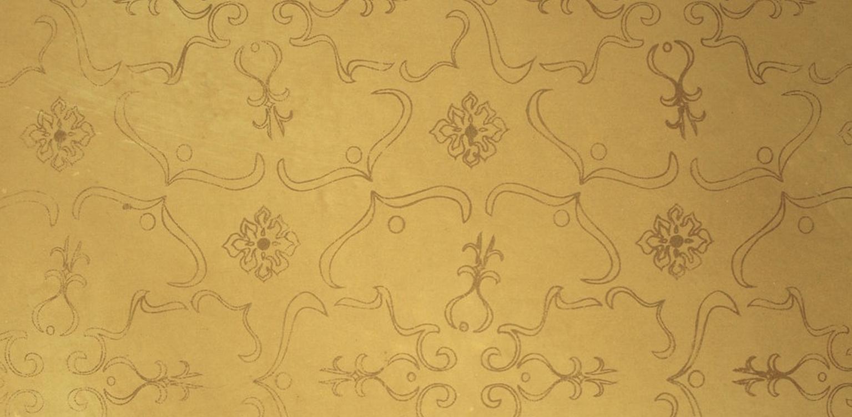 """Trellia"" hand printed wallpaper"