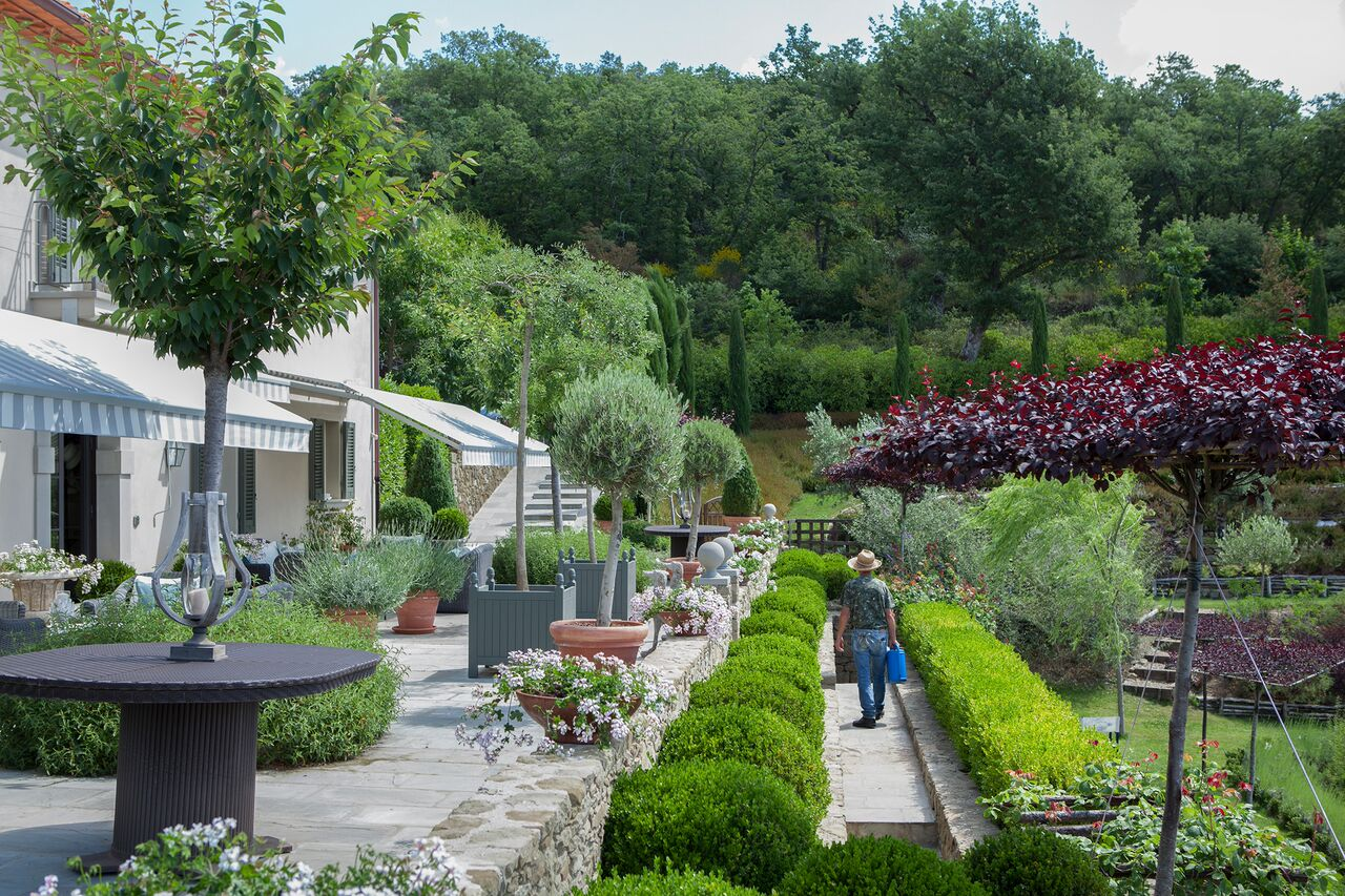 The gardens at Amanda's Tuscan home, her source of inspiration.