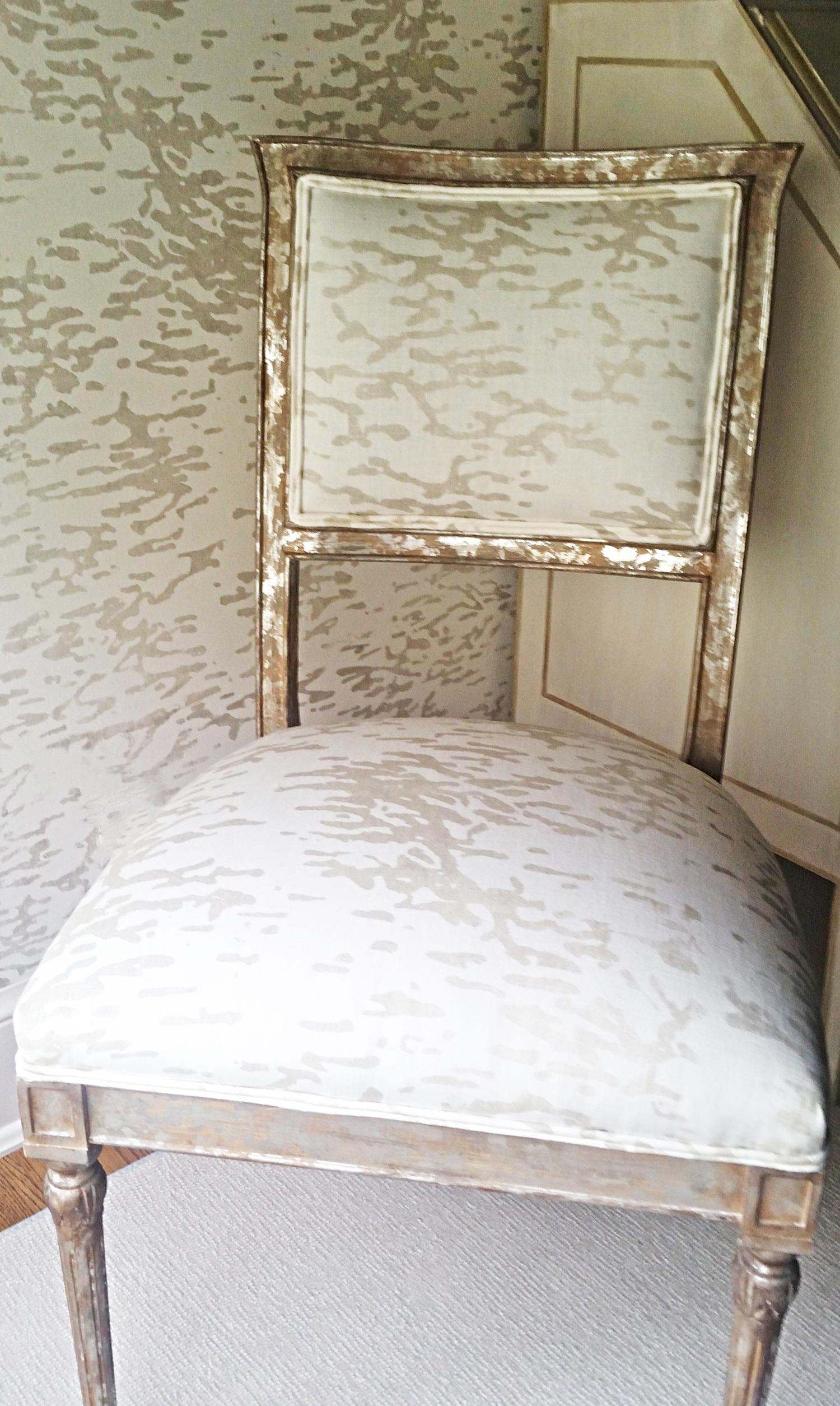 """Birch"" hand printed Belgian Linen and wallpaper"