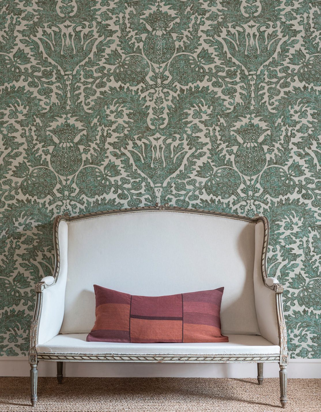 """""""Pomegranate"""" wallpaper designed by Totty Lowther."""