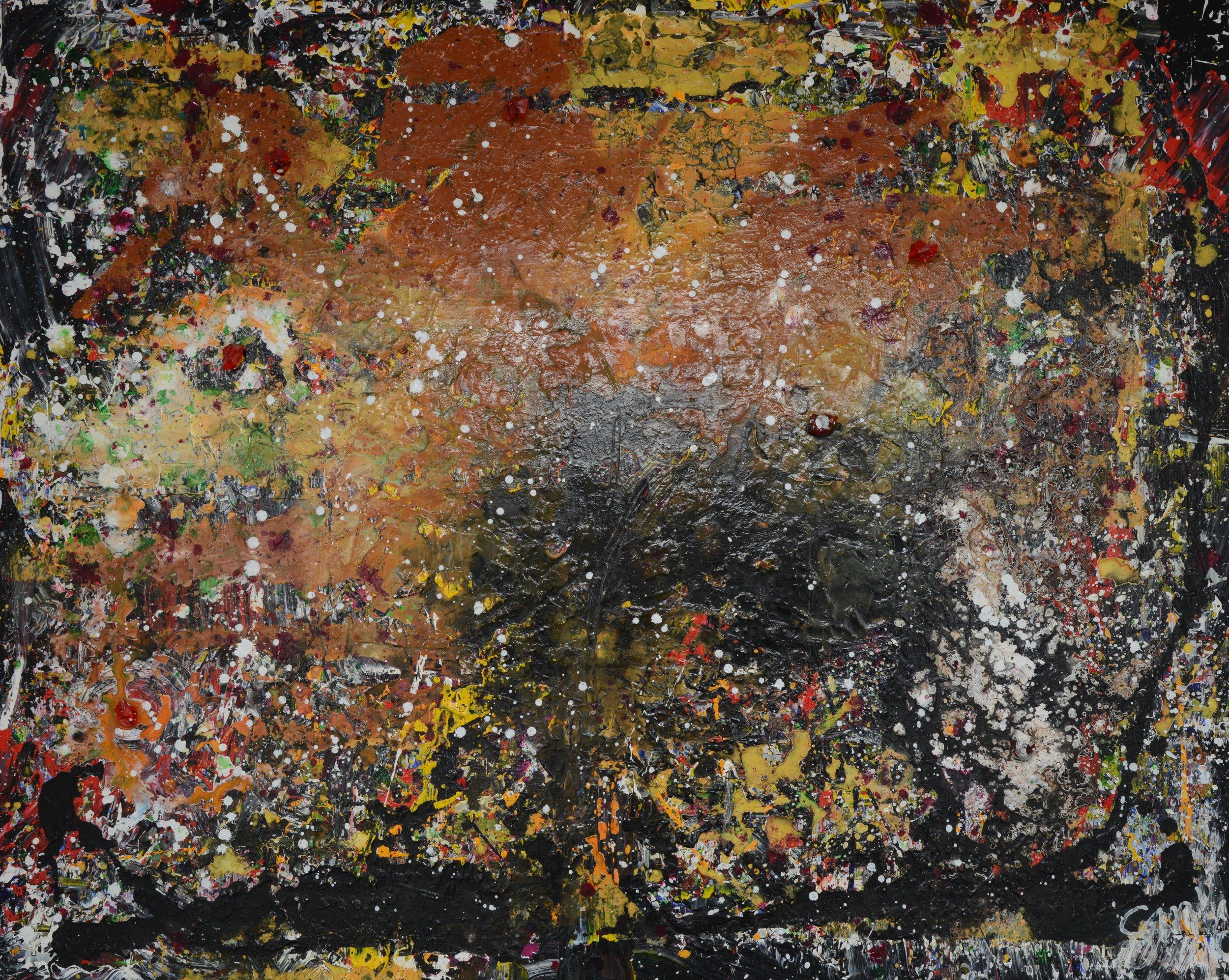 Ferne Galaxien I Acryl auf Leinwand