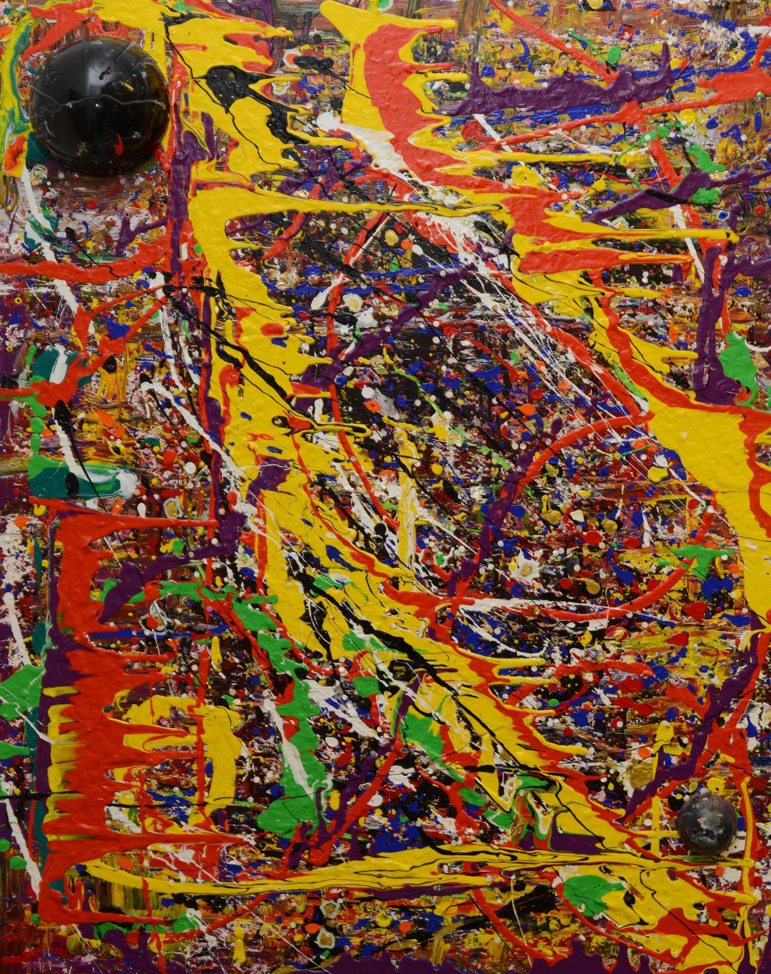 Korona I Acryl auf Leinwand