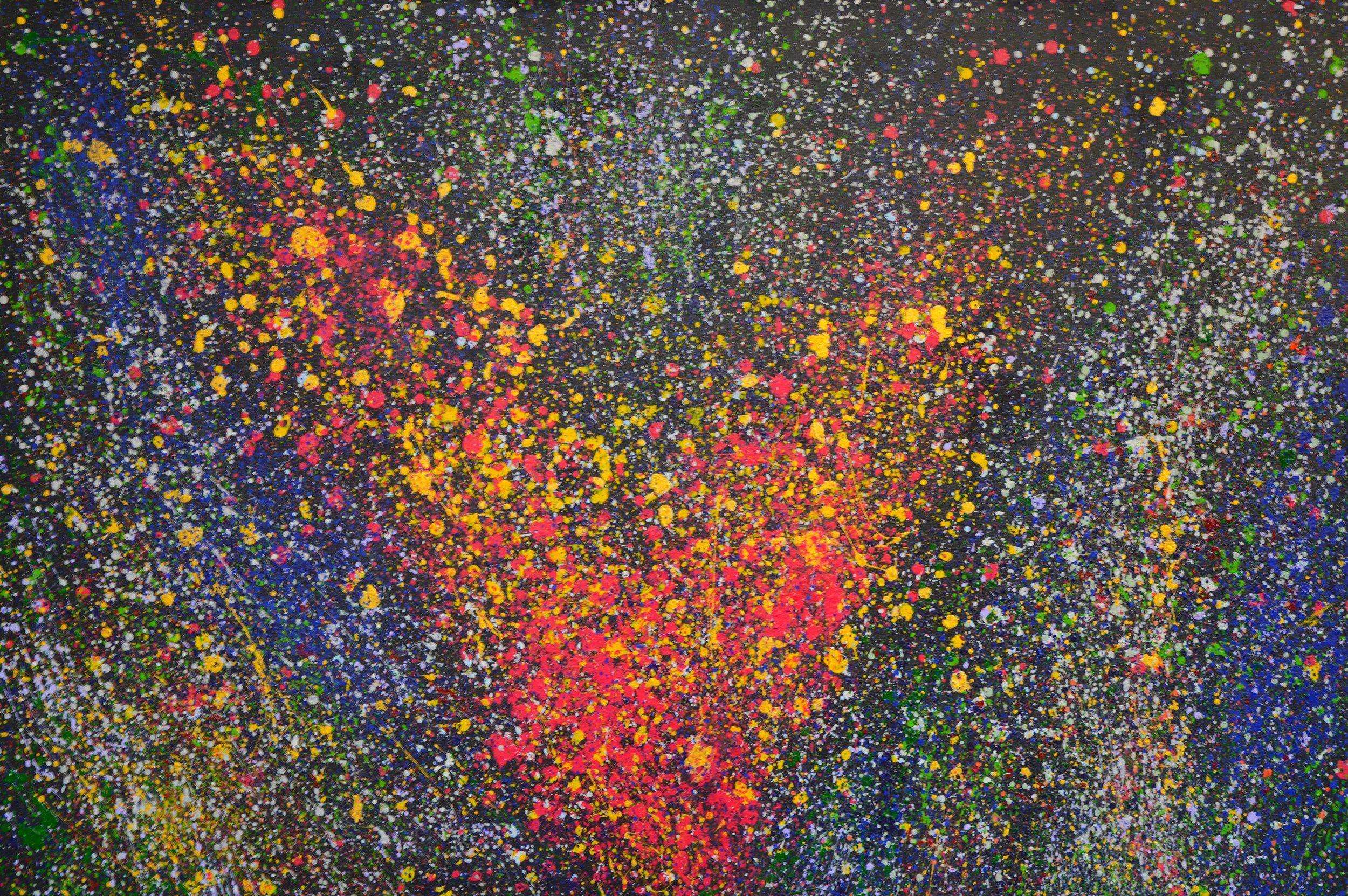 V-Galaxie Acryl auf Leinwand