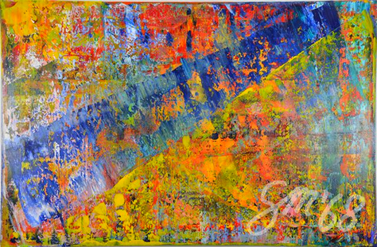 Blaue Diagonale | Acryl auf Leinwand