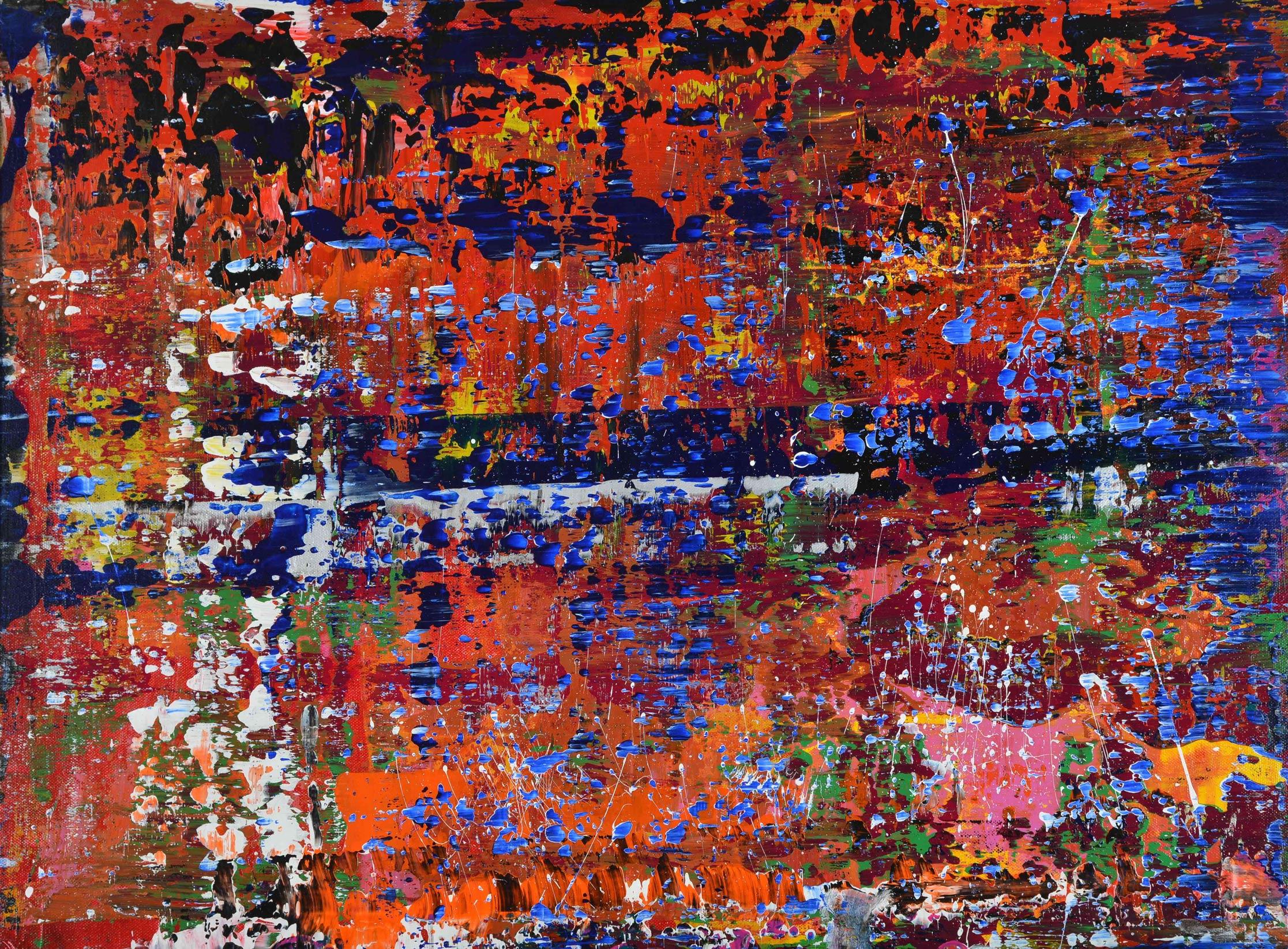 Unter der Asche... | Acryl auf Leinwand