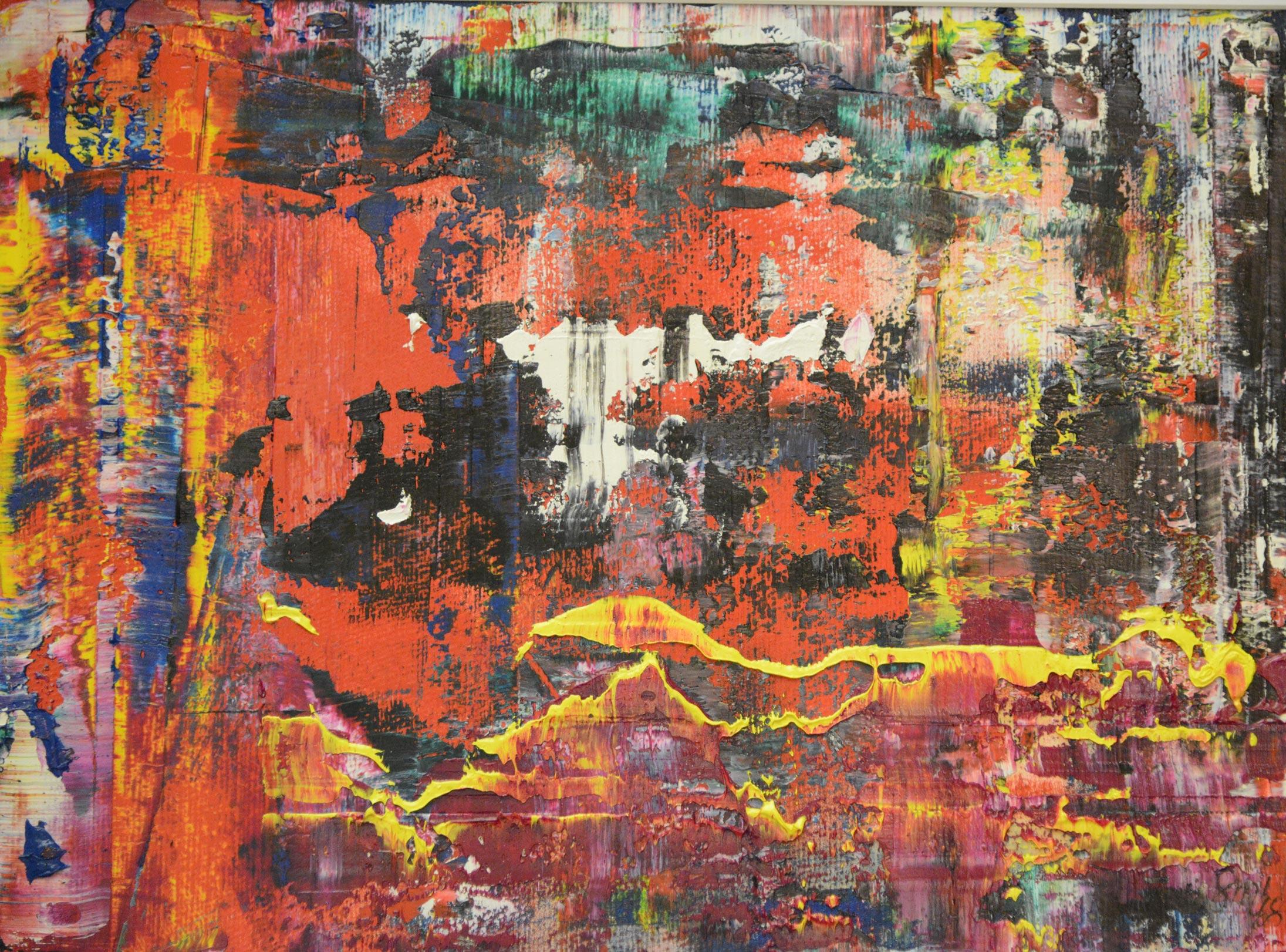 Abstrakte Komposition 9 | Öl auf Leinwand
