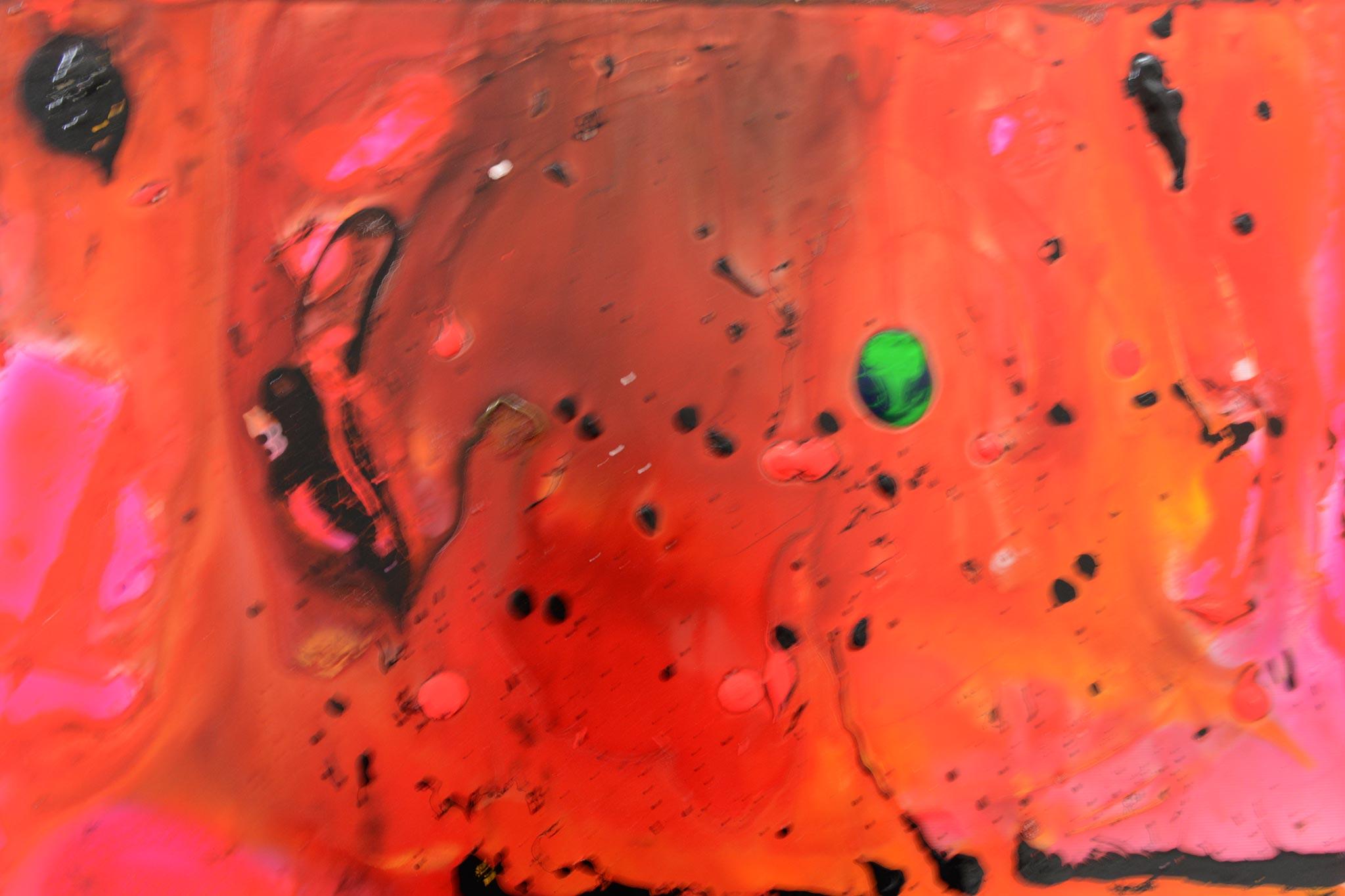Marslandschaft | Glasfarben auf Glas