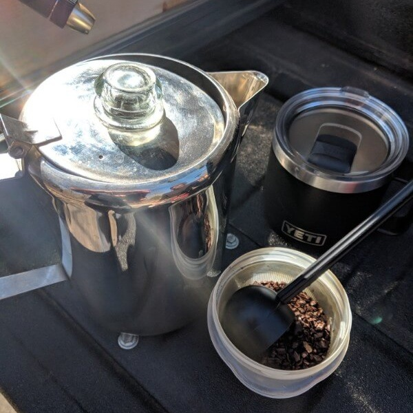 supplies needed to make cowboy camping coffee
