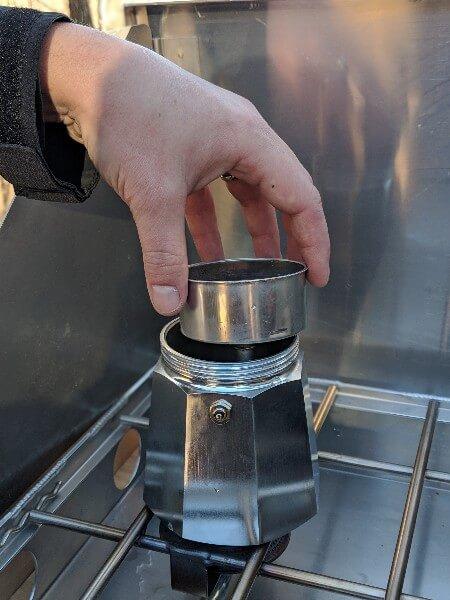 espresso camping coffee bialetti bottom chamber