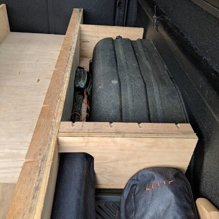 support width additions around pickup truck wheel wells for sleeping platform cover