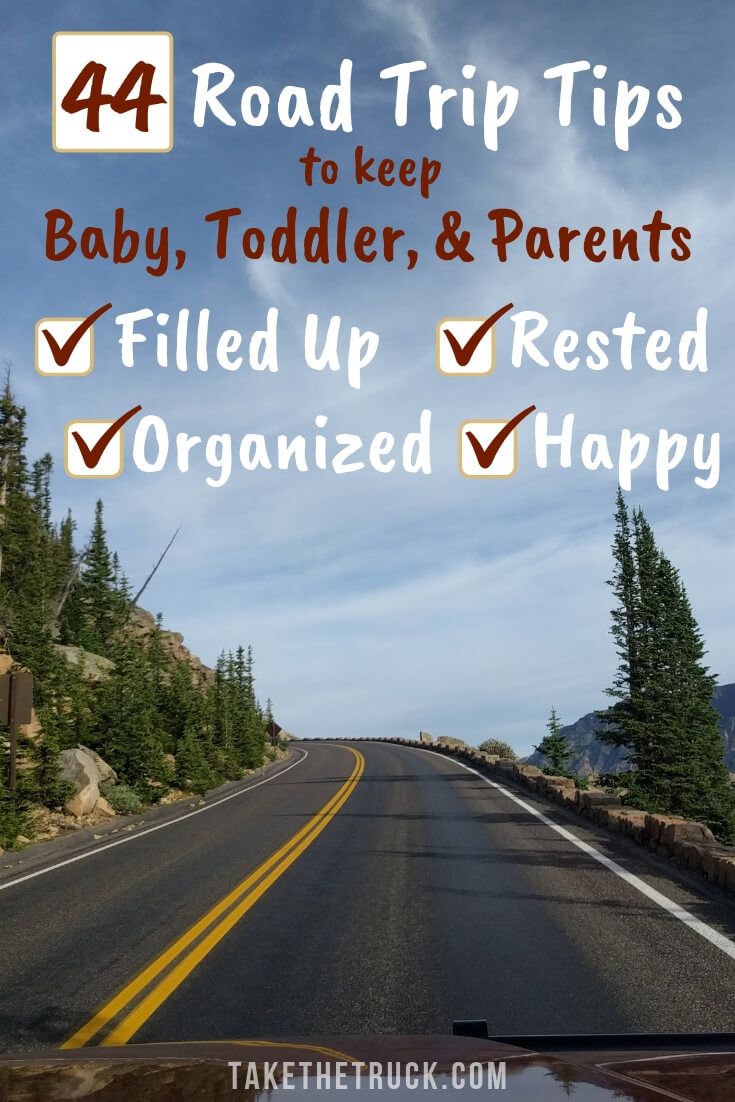 Tips for keeping everyone happy during a long car ride with baby or toddler.