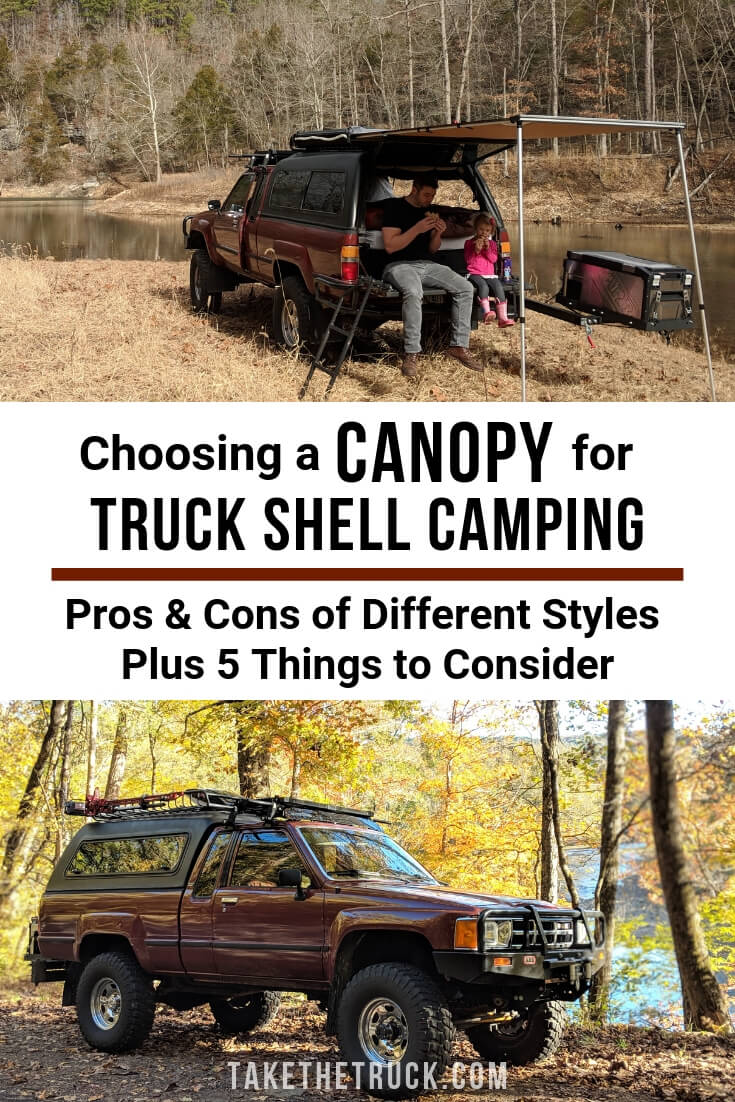 A guide for choosing a truck canopy or topper for truck bed camping.