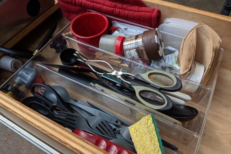 """Utensil organizer inside """"kitchen"""" drawer"""