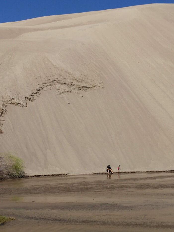 Medano Creek play in Sand Dunes National Park, Colorado