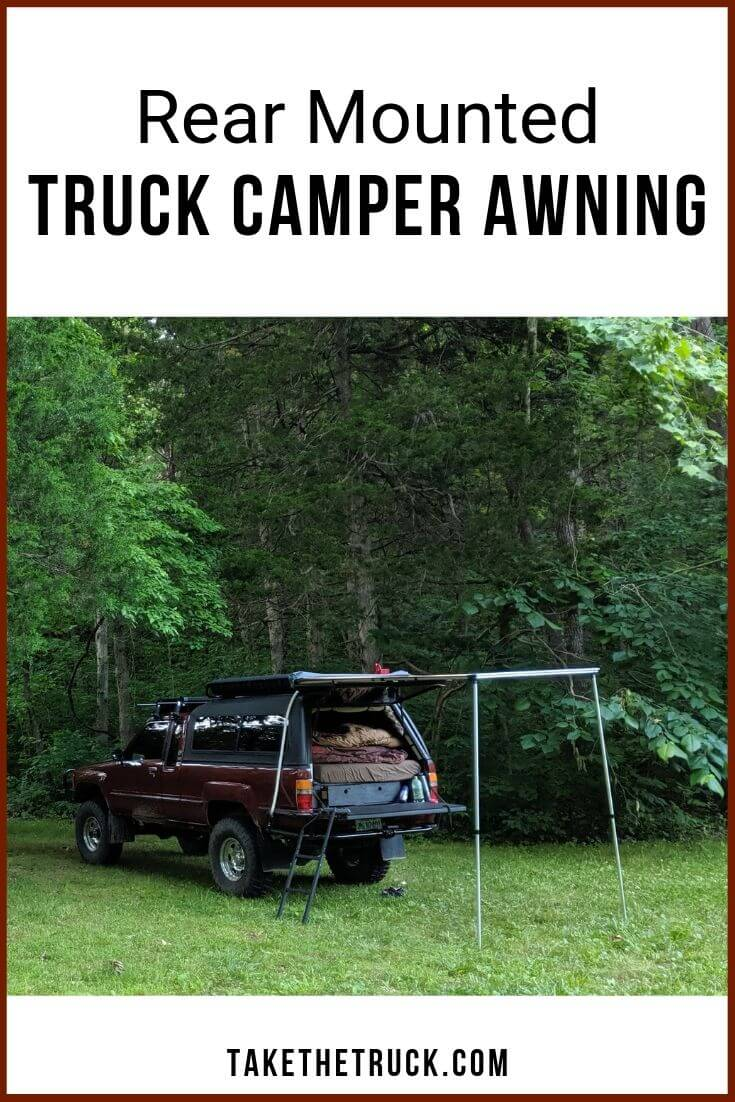 Tips on installing a rear mounted truck camper awning.