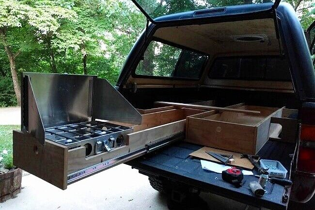 Diy Truck Bed Camper Build The Ultimate Sleeping Platform For Truck Camping Take The Truck