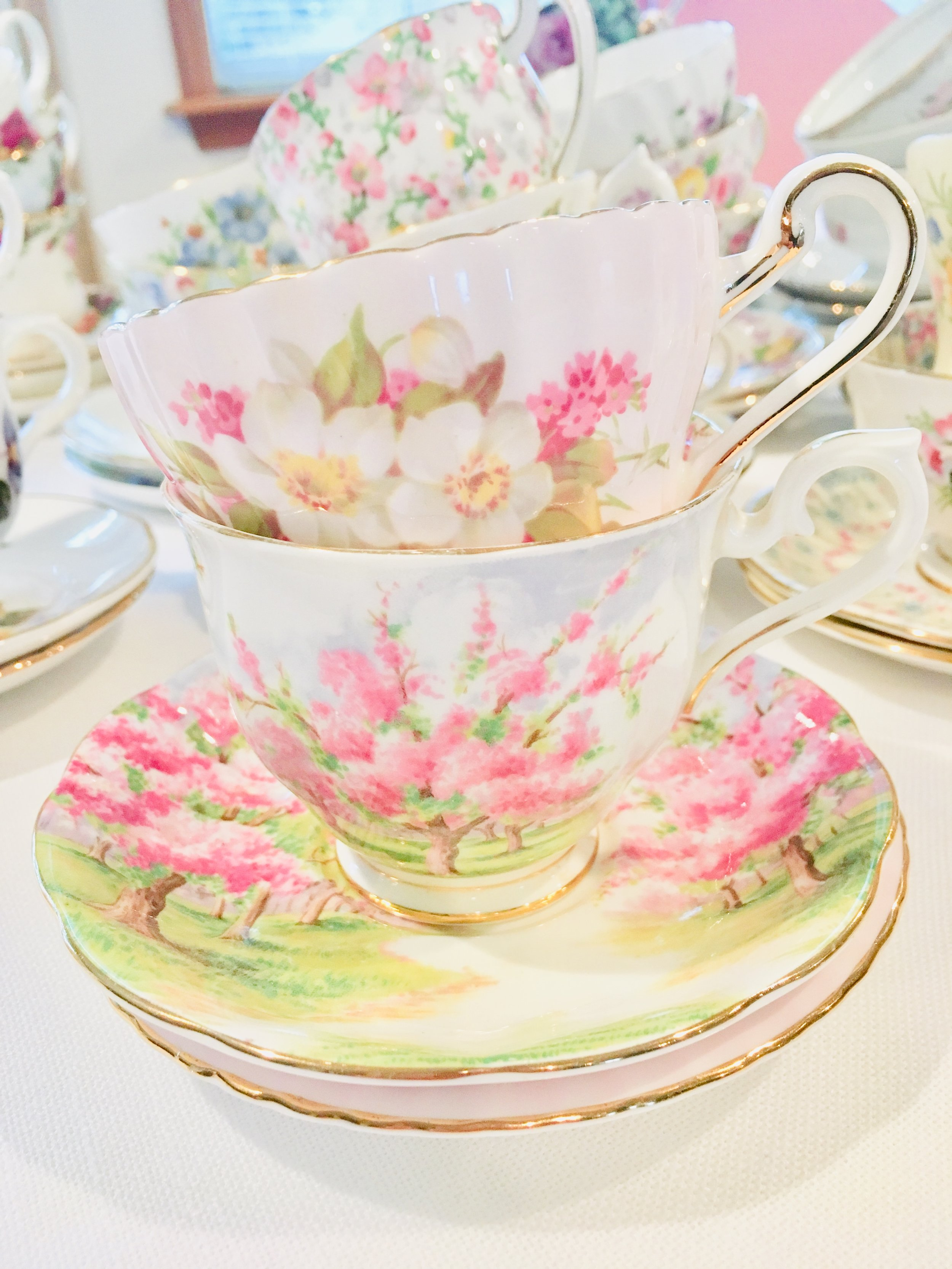 Blossom time - Spring is our favorite time for tea parties. So many opportunities for celebration with Easter, Mother's Day, and bridal showers, of course!