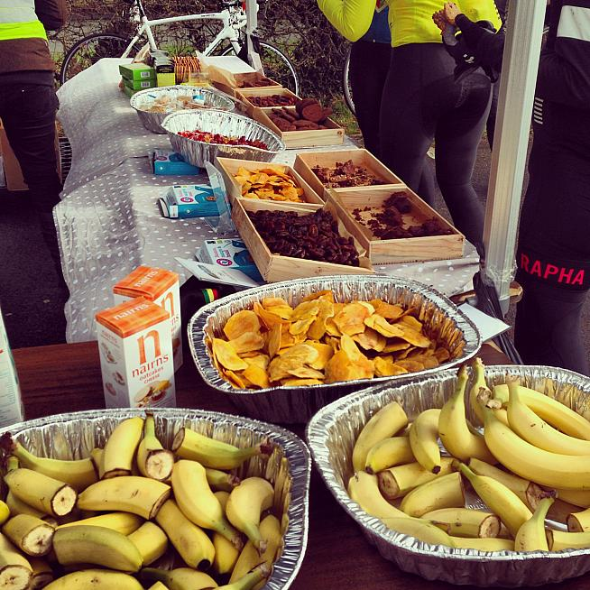 Some races will have great snacks at various points on the course, but don't be tempted to eat something you haven't tried in training.