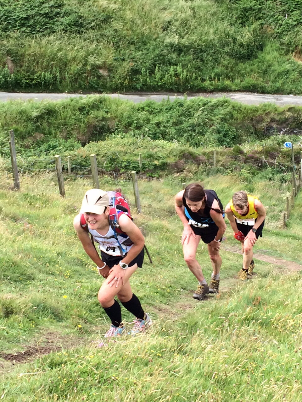 Me and a couple of others pacing ourselves on the Manx British Fell Running Champs Race in 2016
