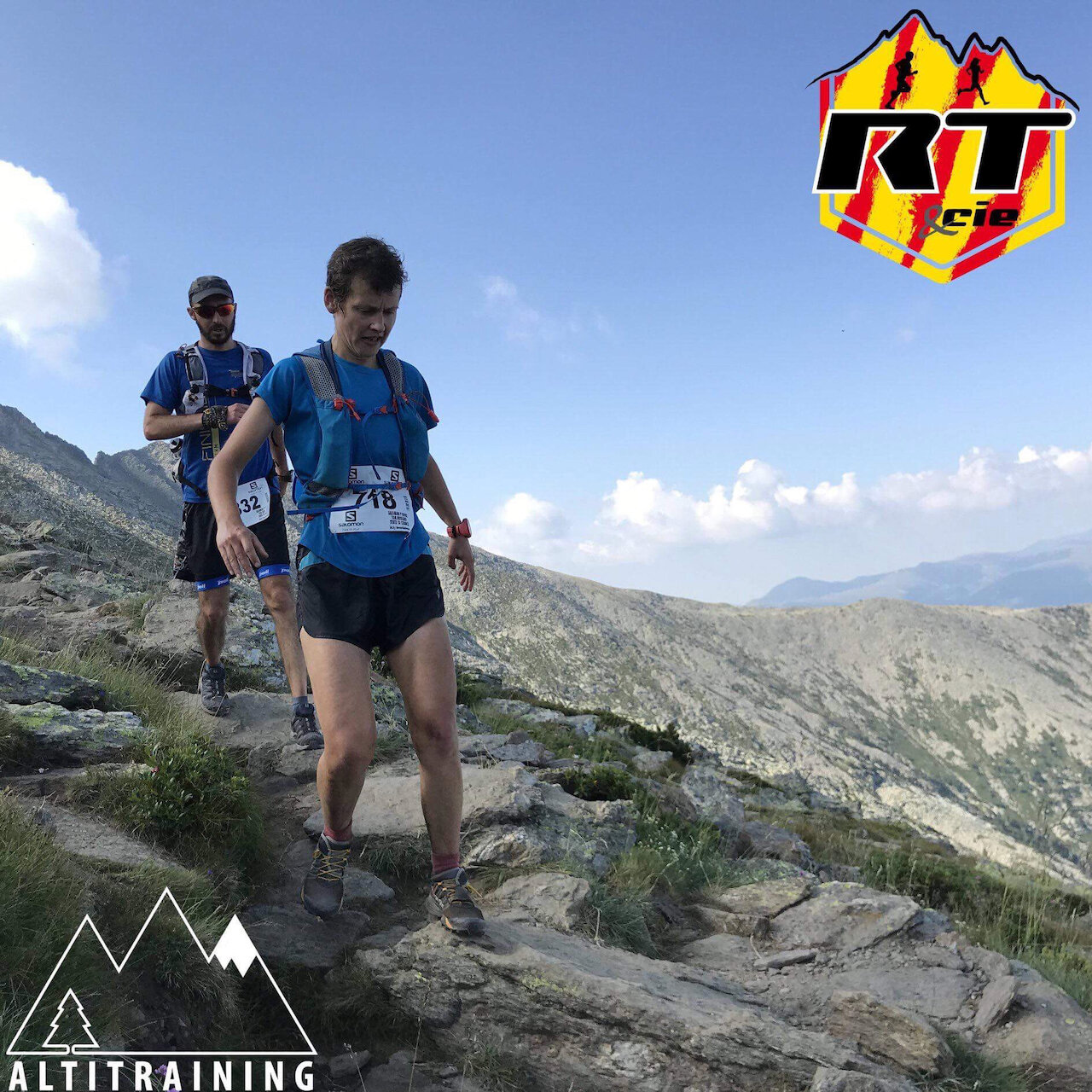 Focussing hard on the descent at the 2018 Championnat du Canigou. Photo curtesy of Running Trail Et Cie 863 Chemin de la Fossella, 66100 Perpignan.