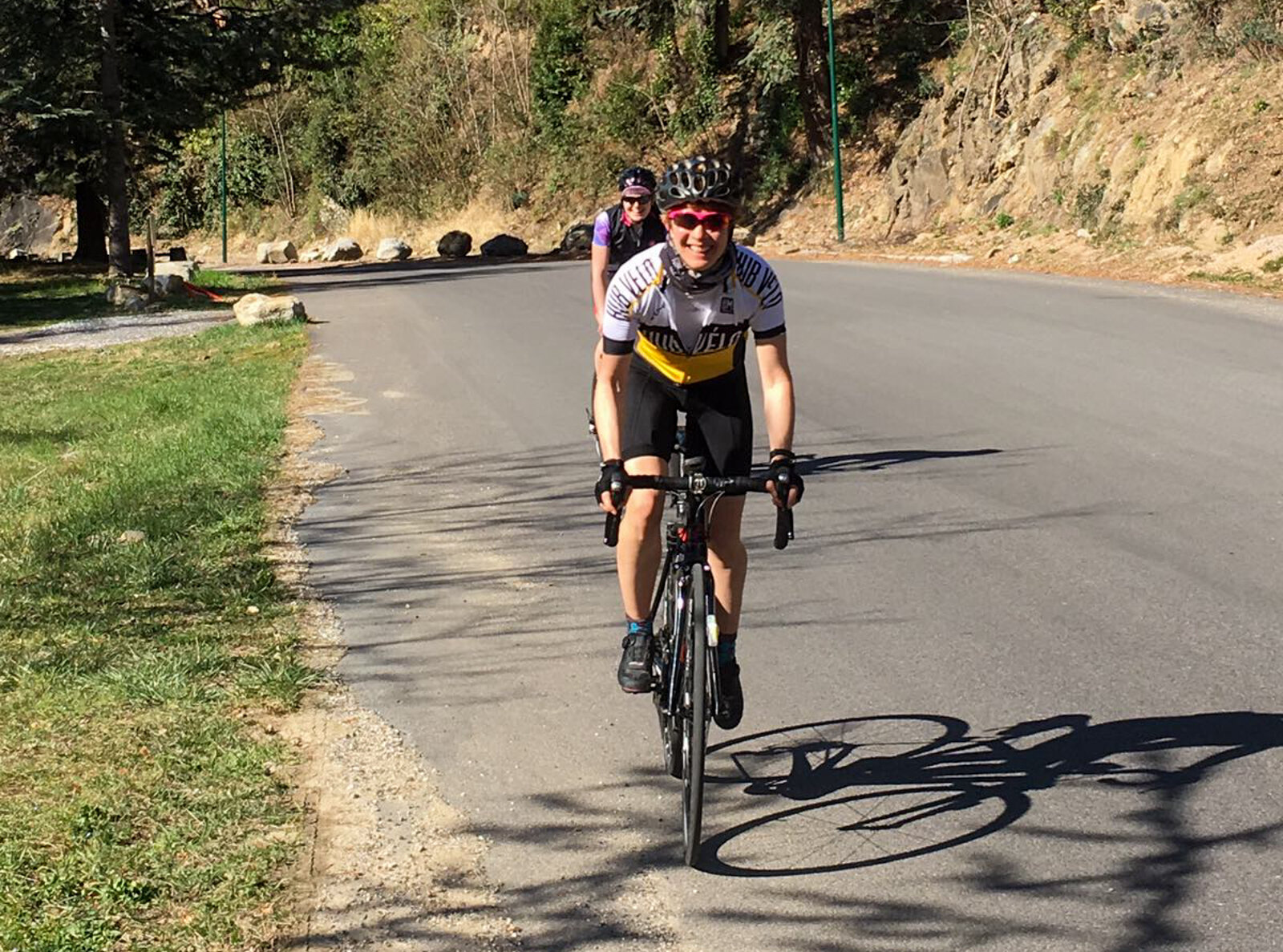 Karen Tostee on a training camp with us here in Casteil, French Pyrenees