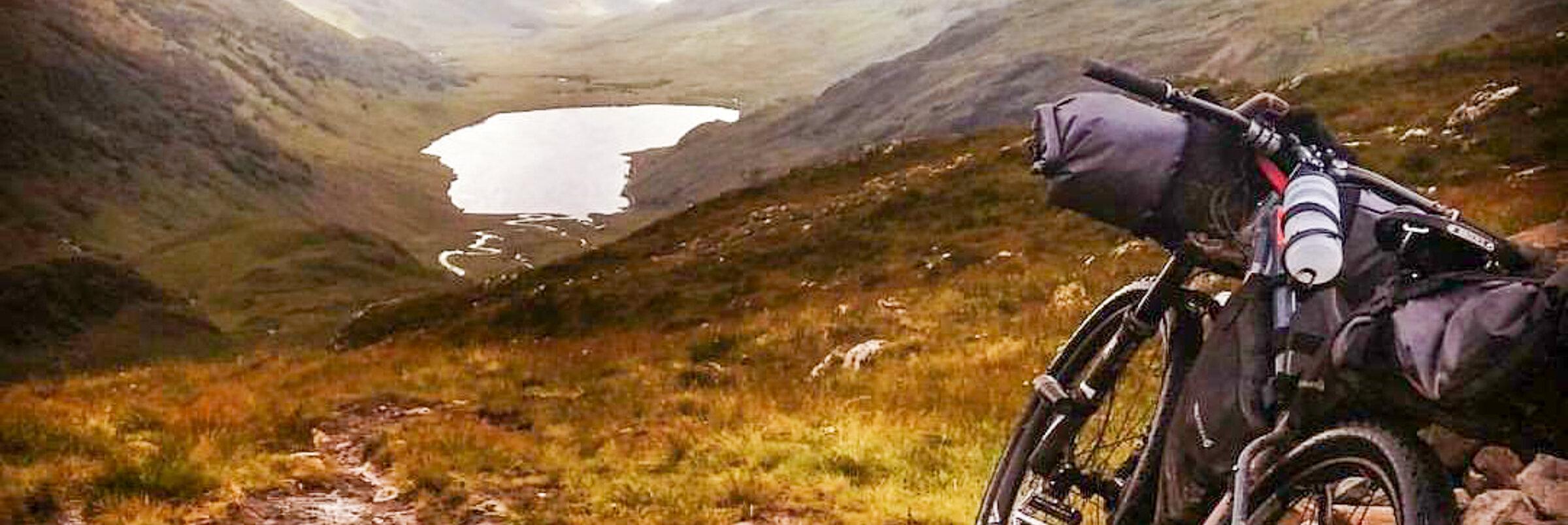 Jennys backpacking setup in Scotland - photo by Jenny Graham