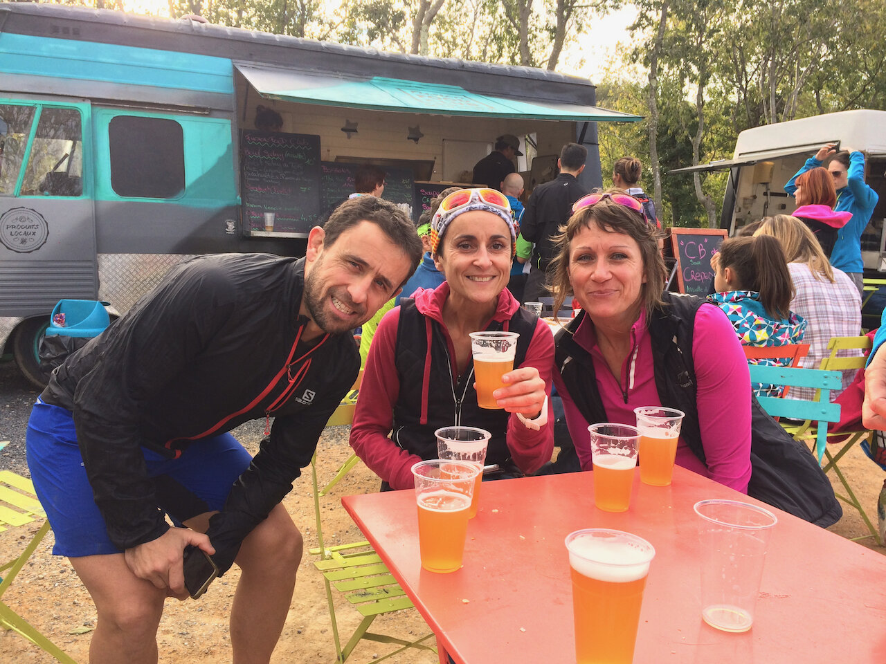Friends from running…engaging in questionable hydration strategies!