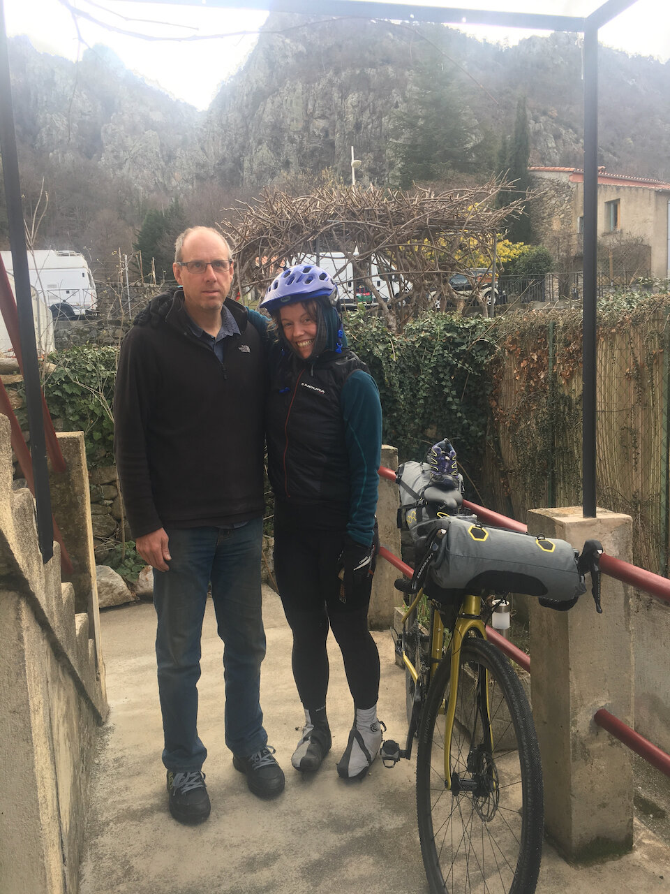 Jenny arrived at our house on her bike in trainers unclipped into her pedals having spent the night in the cold snow with little sleep stating she just couldn't face taking her shoes off and clipping in before setting off…