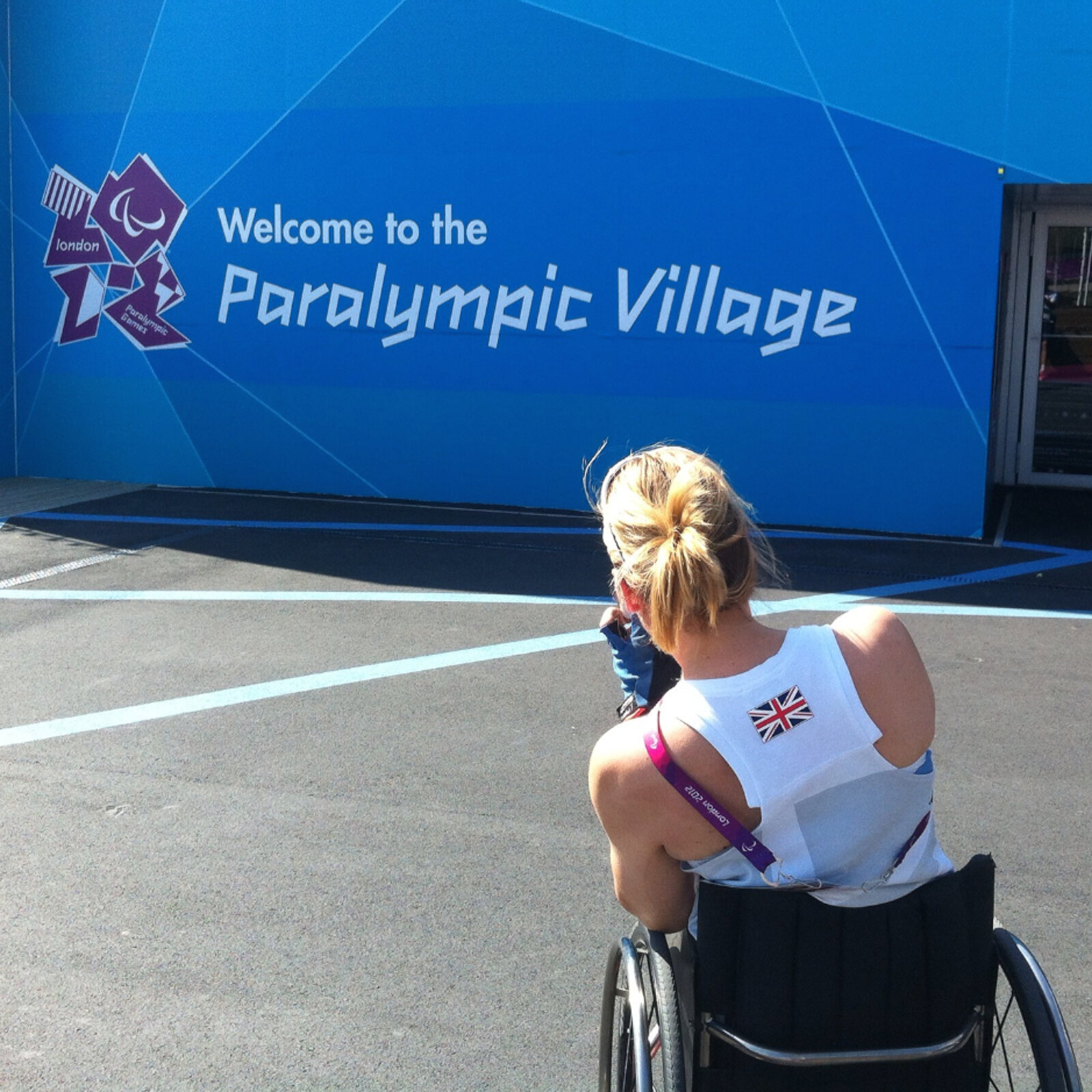 Karen at the Paralympic Games in London 2012