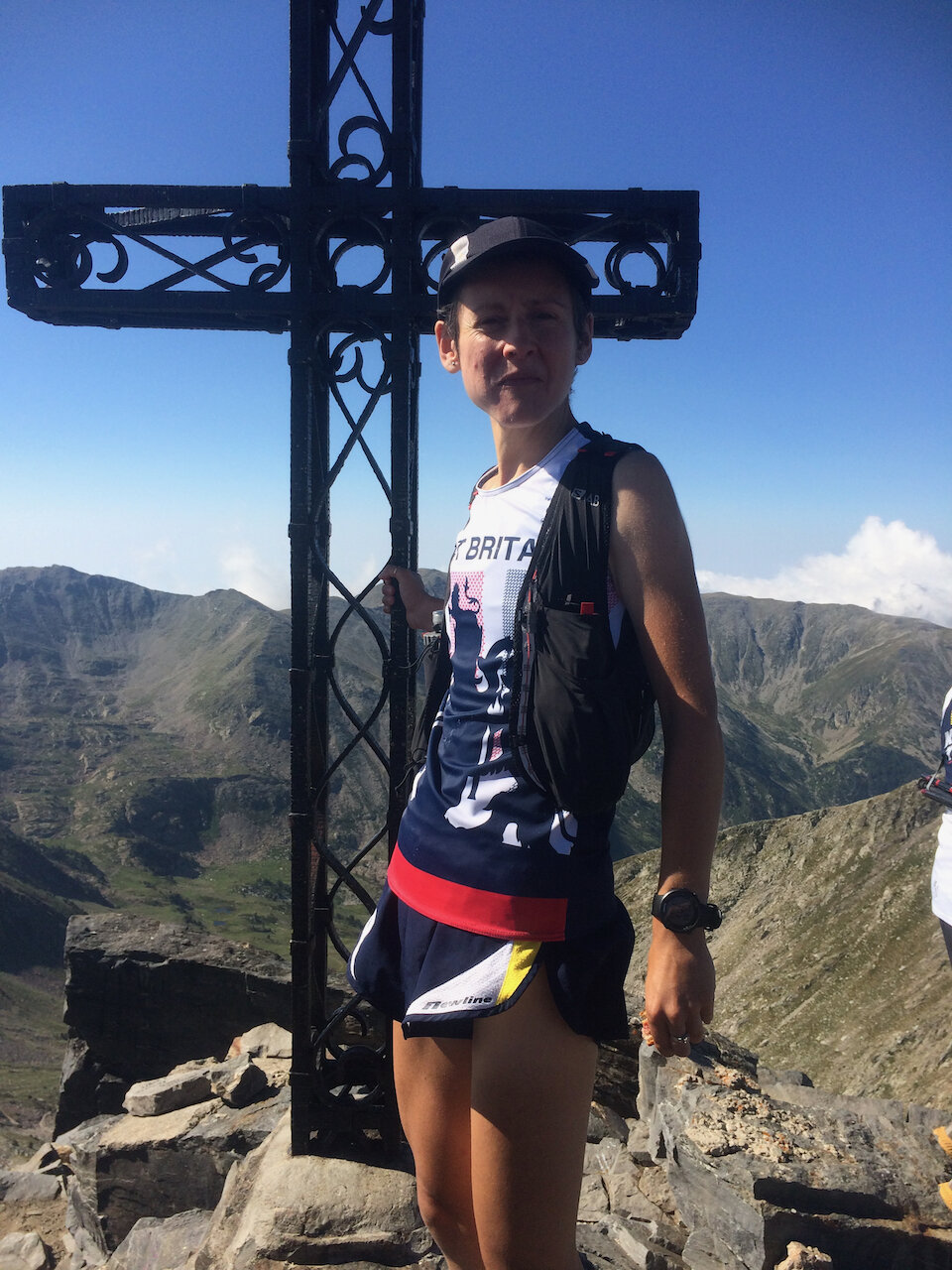 Clare at the top of Canigou