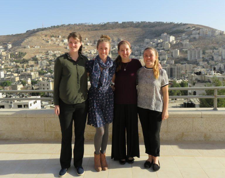 International Interns Tallin, Niamh, Katherine, and Sally.