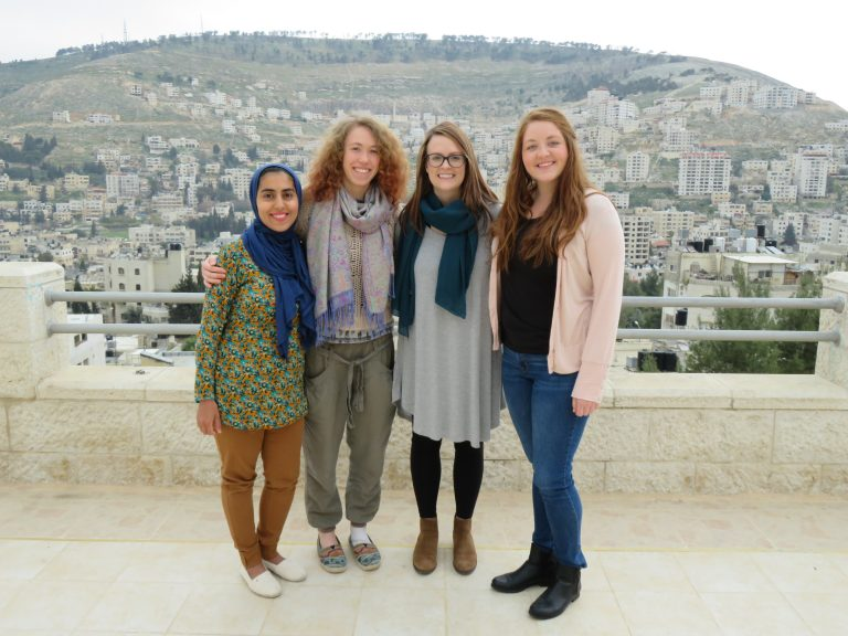International Interns Haya, Niamh, Samantha, and Connor.