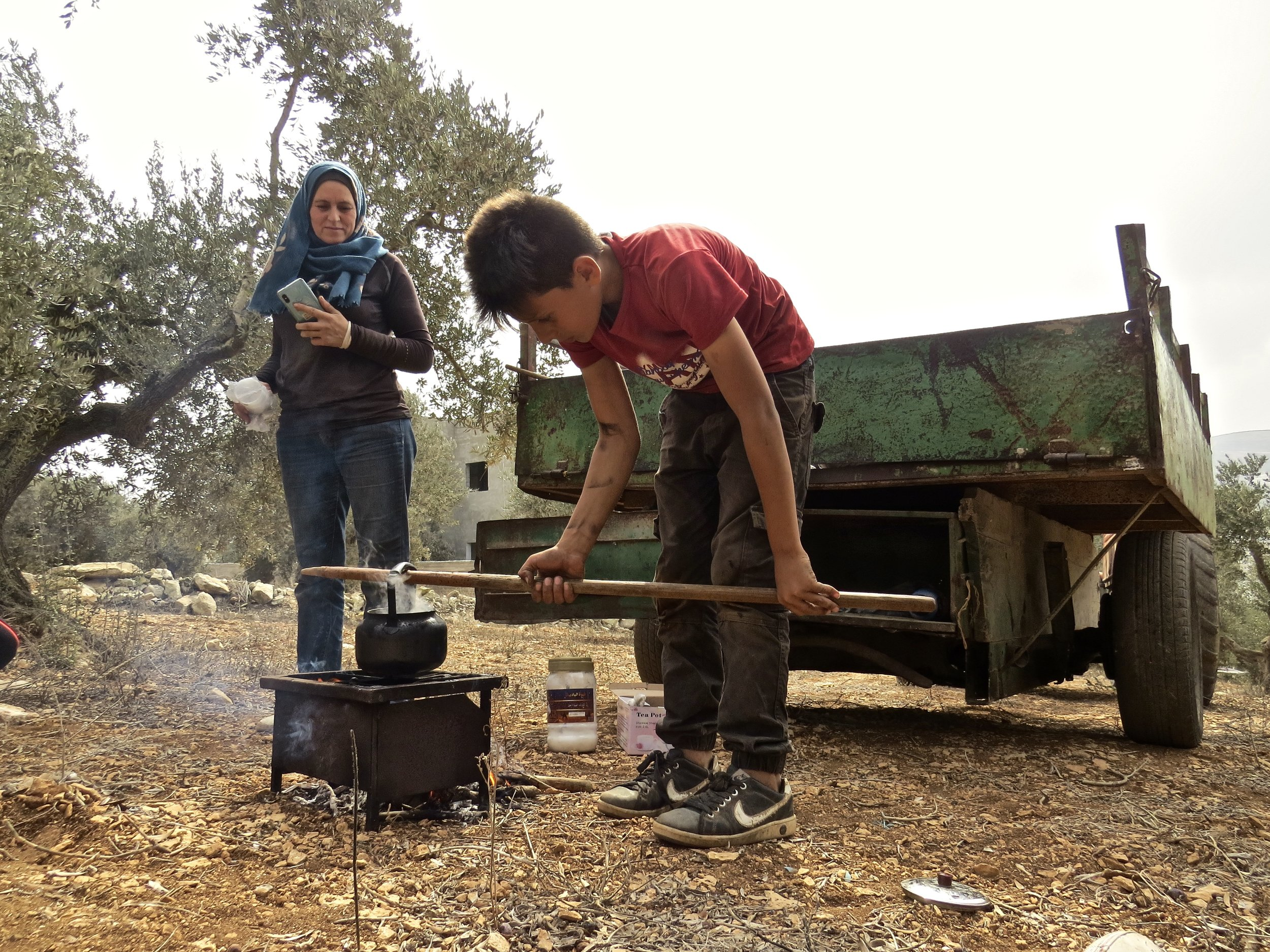 Nahawat and her son Bashar.
