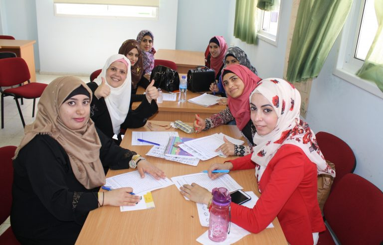 A STEP! II EFL class works together on a project to enhance their skills in English.