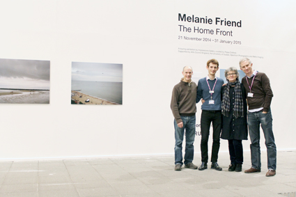 from left to right: Mark Pettit & Paul Davies of UH Gallery team, me, Matthew Shaul, UH Gallery Head of Programme & curator