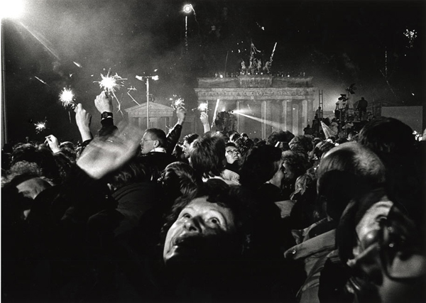 New Year's Eve, the Wall, Berlin, 1989