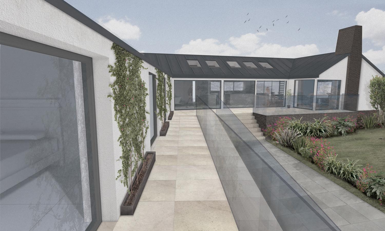 exterior rendering riverside homestead