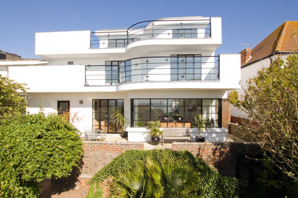 art deco style seaside home