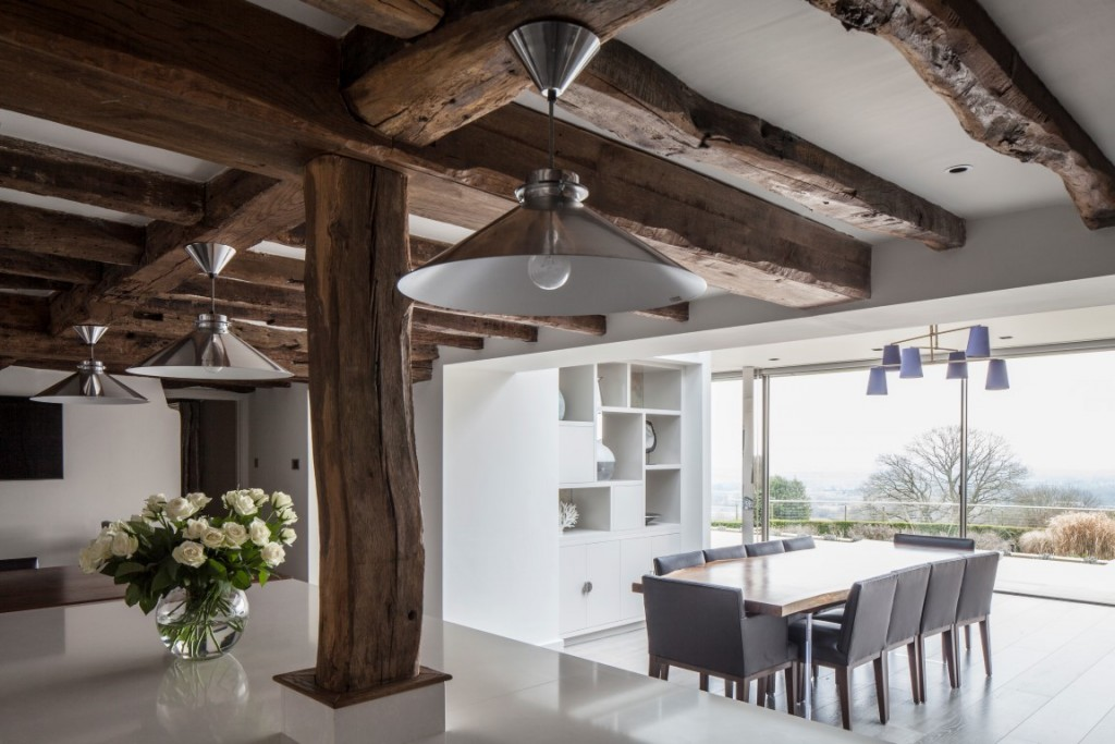 traditional meets contemporary living spaces