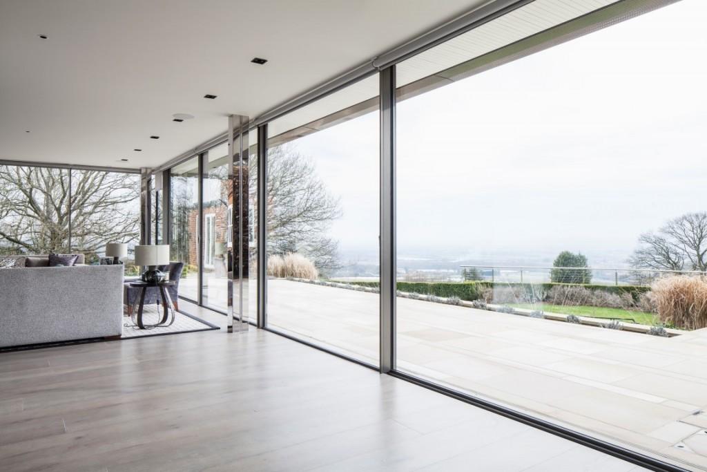 contemporary interior expansive glazing stunning views