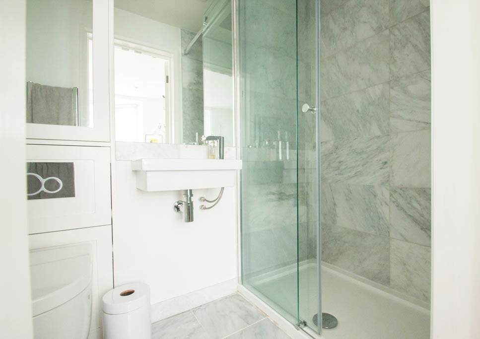 contemporary shower room