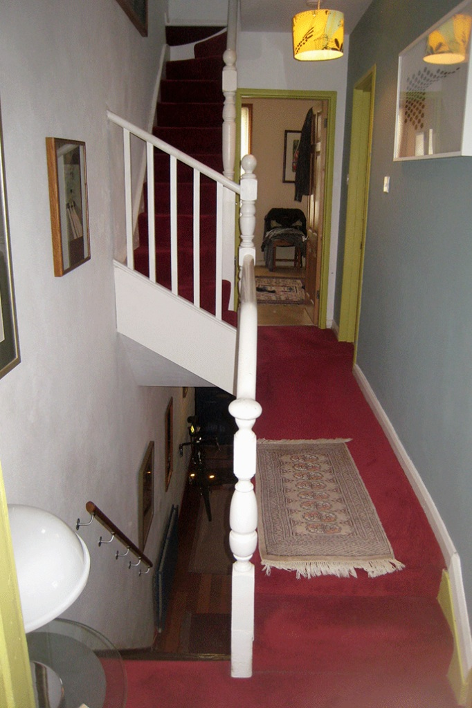 before: stair and landing