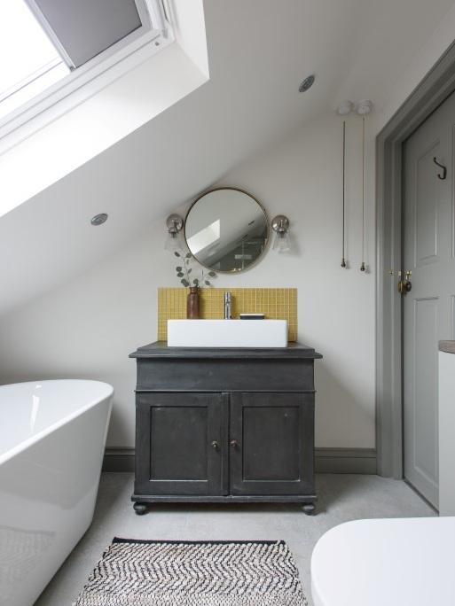 classic en suite bathroom in loft conversion