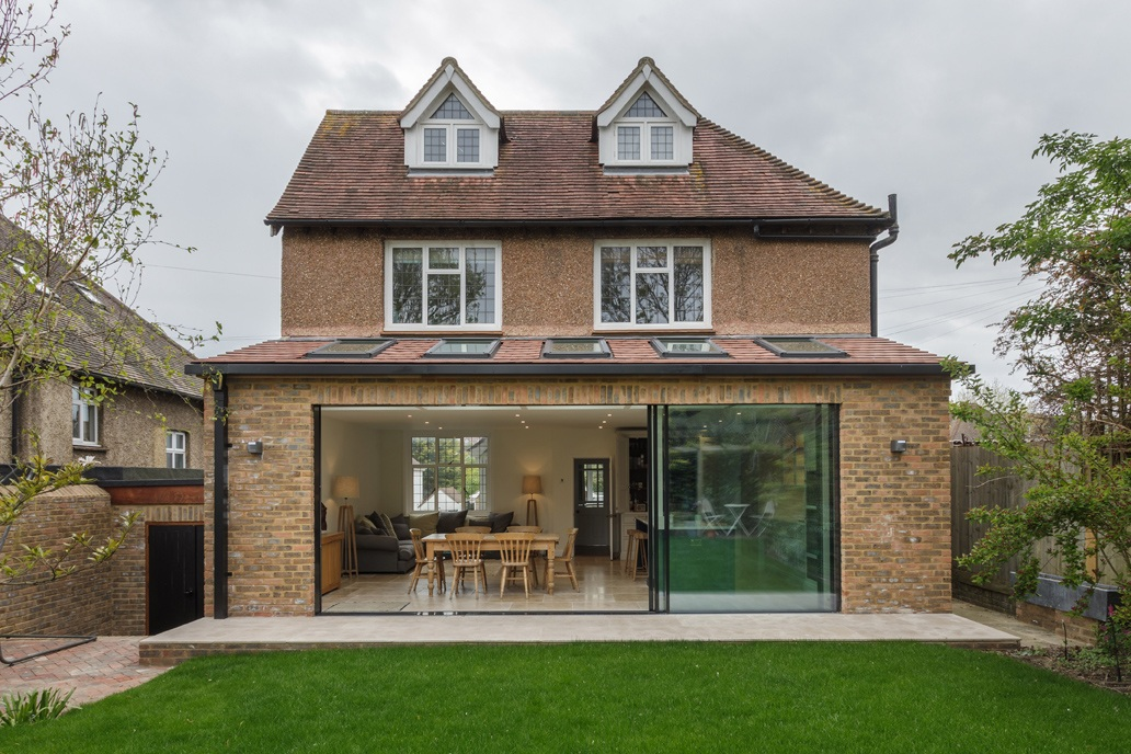 single storey rear modern extension to traditional home