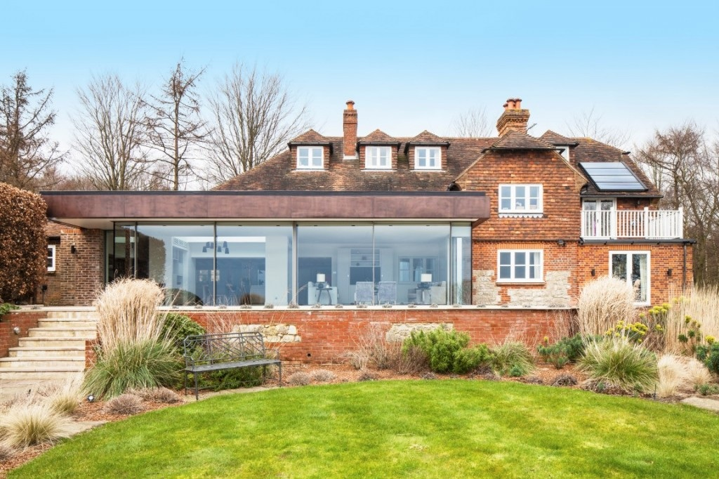 contemporary single storey extension to traditional building