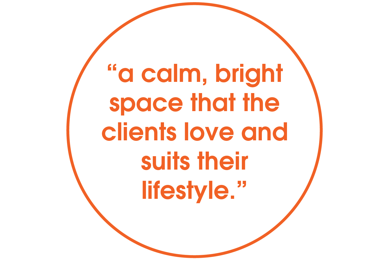 a calm bright space quote