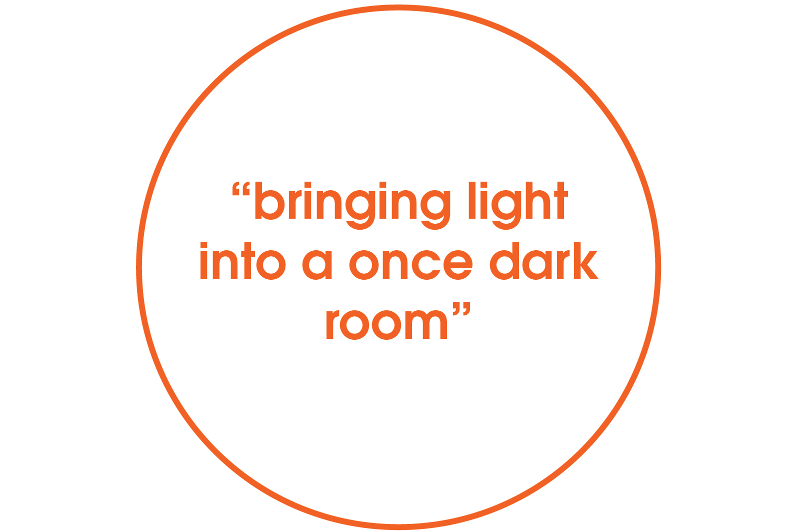 bringing light into a once dark room quote