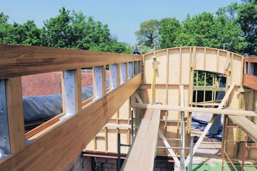 timber framing for cow shed conversion