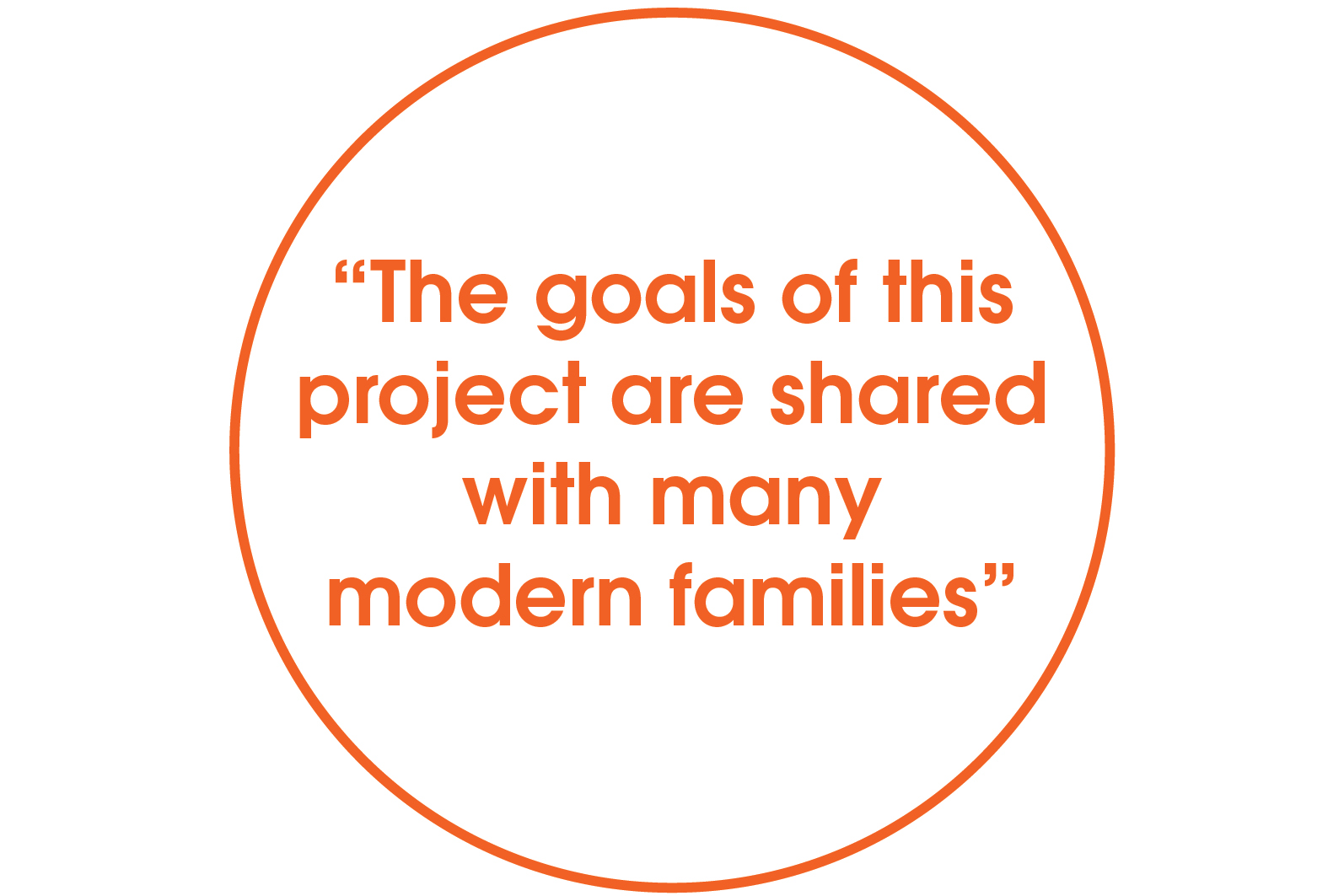 the goals of this project are shared with many modern families quote