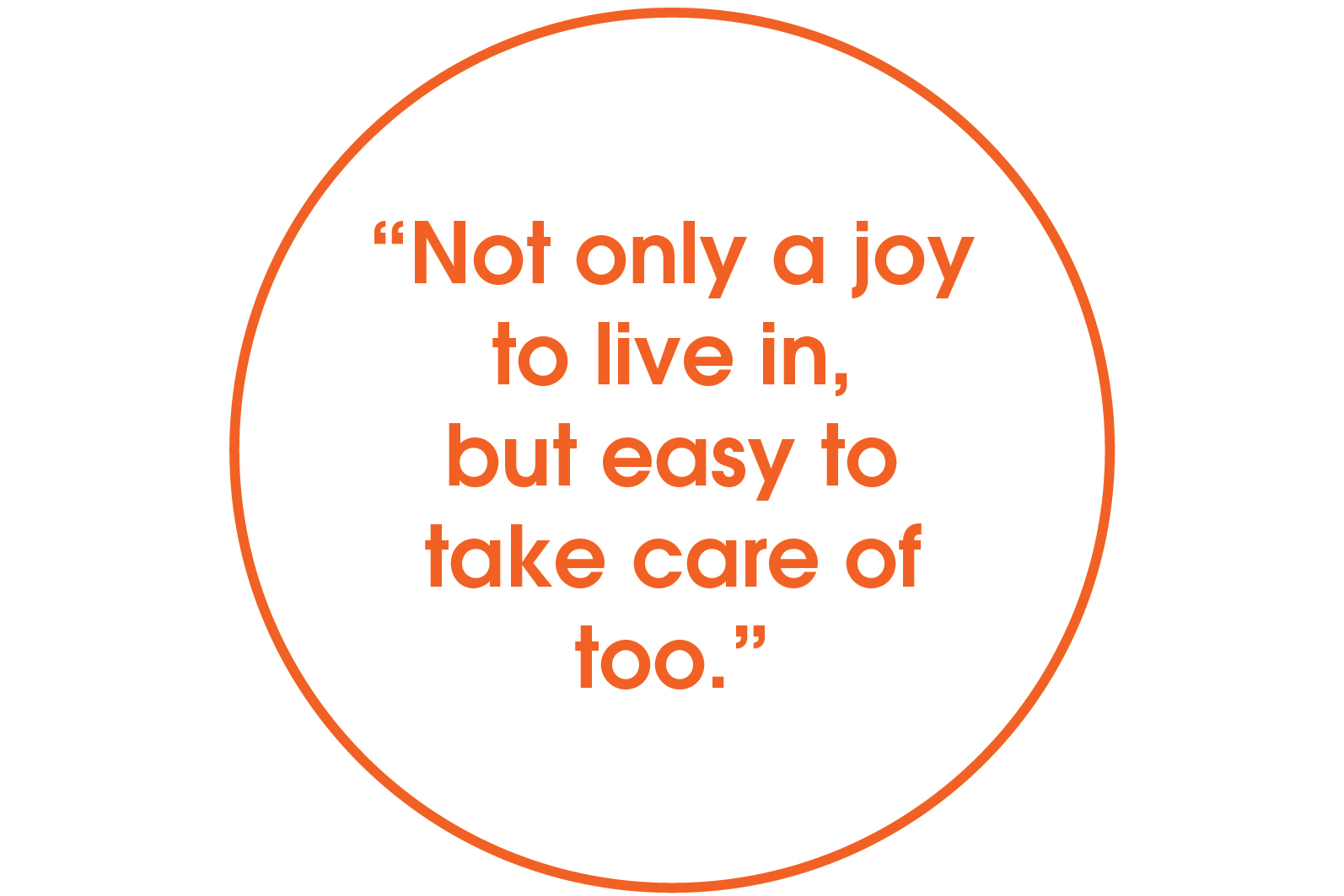 not only a joy to live in but easy to take care of too quote